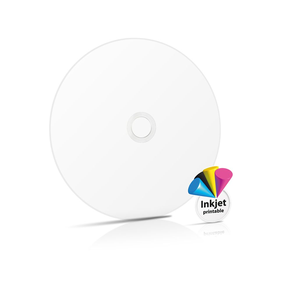 photo about Ink Jet Printable Dvd named Traxdata Complete Experience White Inkjet Printable Blank DVD-R 8x 4.7GB - 50 components